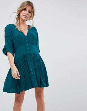 photo Casual Mini Tea Dress by ASOS, color Teal - Image 1