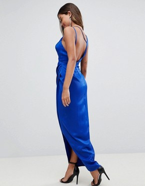 photo Sexy Cut Out Strappy Maxi Dress by ASOS, color Cobalt - Image 2