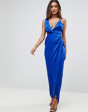 photo Sexy Cut Out Strappy Maxi Dress by ASOS, color Cobalt - Image 1