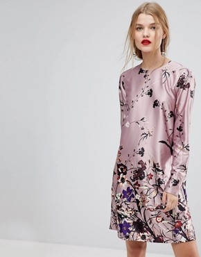 photo Floral Print Shift Dress by Y.A.S, color Multi - Image 1