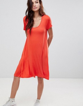 photo Swing Dress with Keyhole Back Detail by Brave Soul, color Racer Red - Image 1