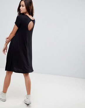 photo Swing Dress with Keyhole Back Detail by Brave Soul, color Black - Image 1