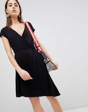 photo Crissy Wrap Dress by Brave Soul, color Black - Image 1