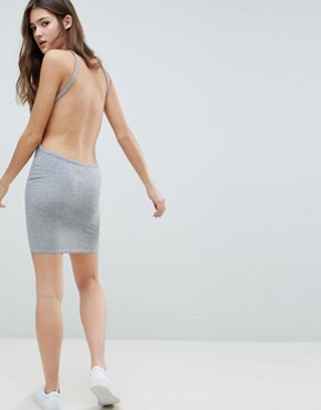 photo Backless Cami Dress by Glamorous, color Grey Rib - Image 2