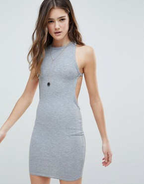 photo Backless Cami Dress by Glamorous, color Grey Rib - Image 1