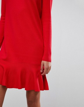 photo Drop Waist Knitted Dress by Y.A.S, color Racing Red - Image 3