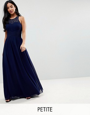photo Maxi Dress with Embellishment by Little Mistress Petite, color Navy - Image 1