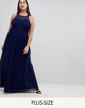 photo Maxi Dress with Embellishment by Little Mistress Plus, color Navy - Image 1