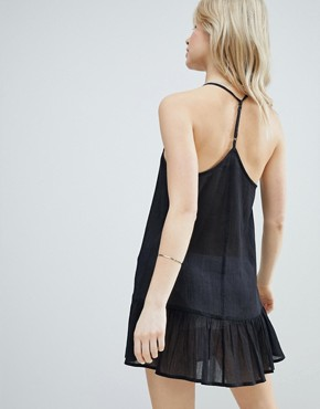 photo T Back Tiered Beach Sundress by ASOS, color Black - Image 2