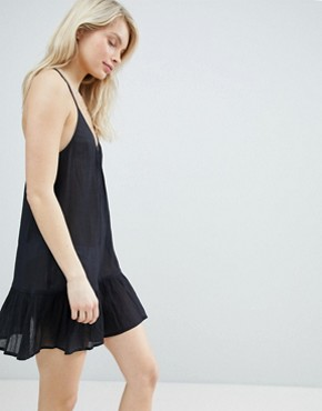 photo T Back Tiered Beach Sundress by ASOS, color Black - Image 1