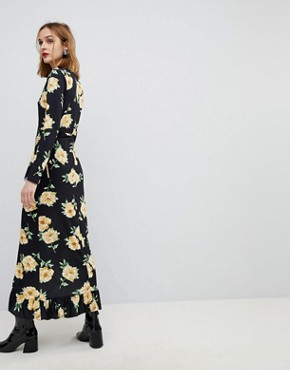 photo Maxi Wrap Dress in Large Bloom Print by ASOS, color Floral Print - Image 2