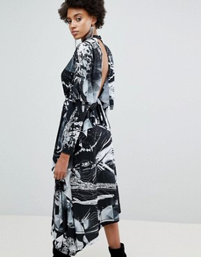 photo Printed Long Sleeve Hanky Hem Dress by ASOS x Star Wars, color Multi - Image 2