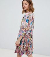 photo Enso Floral Pleat Dress by PS by Paul Smith, color Pink - Image 2