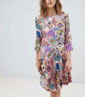 photo Enso Floral Pleat Dress by PS by Paul Smith, color Pink - Image 1