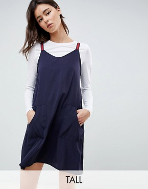 photo Two in One Dress by Noisy May Tall, color Navy & White - Image 1