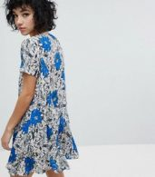 photo Button Front Swing Dress by Reclaimed Vintage Inspired, color Multi - Image 2