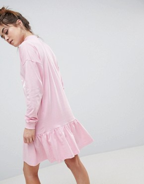 photo Empower Pephem Smock Dress by ASOS, color Pink - Image 2