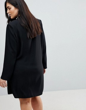 photo Tux Dress with Pearl Buttons by ASOS CURVE ULTIMATE, color Black - Image 2