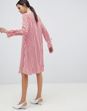 photo Trey Striped Dress by Y.A.S, color Red/White Stripe - Image 2