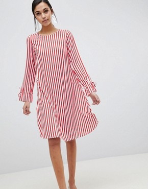 photo Trey Striped Dress by Y.A.S, color Red/White Stripe - Image 1