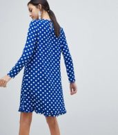 photo Dotti Polka Dot Dress by Y.A.S, color Navy Polka Dot - Image 2