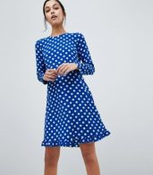 photo Dotti Polka Dot Dress by Y.A.S, color Navy Polka Dot - Image 1