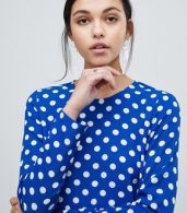photo Dotti Polka Dot Dress by Y.A.S, color Navy Polka Dot - Image 3