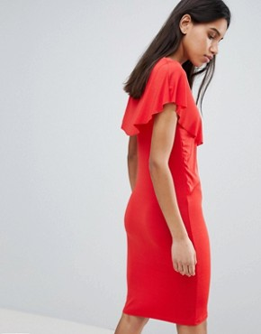 photo Lou Lou Ruffle Front Dress by Y.A.S, color Red - Image 2