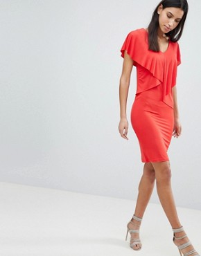 photo Lou Lou Ruffle Front Dress by Y.A.S, color Red - Image 4