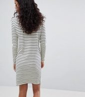 photo Stripe Sweater Dress by Y.A.S, color White/Black Stripe - Image 2