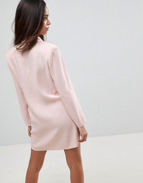 photo Mini Tux Dress with Pearl Buttons by ASOS PETITE, color Nude - Image 2