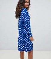 photo Dotti Polka Dot Dress by Y.A.S Tall, color Navy Polka Dot - Image 2