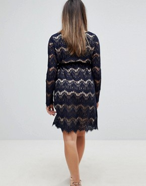 photo Premium Lace Dress by Mama.licious, color Navy Blazer - Image 2
