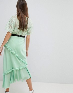 photo Midi Dress with Lace Bodice by Three Floor, color Spring Green - Image 2