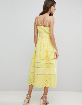 photo Lace Midi Dress by Three Floor, color Lemon - Image 2