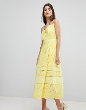 photo Lace Midi Dress by Three Floor, color Lemon - Image 1