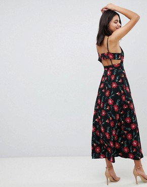 photo Square Neck Maxi Dress in Floral Print by ASOS DESIGN, color Multi - Image 2