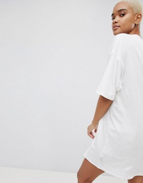 photo Camo Logo T-Shirt Dress by Carhartt WIP, color White - Image 2