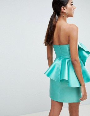 photo Cocktail Mini Dress with Extreme Ruffles by ASOS DESIGN, color Turquoise - Image 2