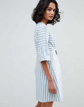 photo Striped Skater Dress by BOSS Casual, color Open Miscellaneous - Image 2