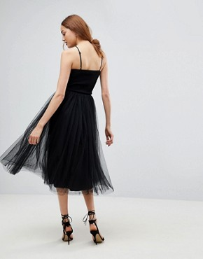 photo Tulle Dress with Sequin Upper by Little Mistress Tall, color Black - Image 2