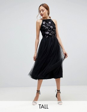 photo Tulle Dress with Sequin Upper by Little Mistress Tall, color Black - Image 1