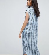 photo Check Shirt Dress by Replay, color Blue - Image 2