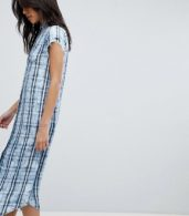 photo Check Shirt Dress by Replay, color Blue - Image 1