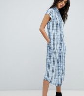 photo Check Shirt Dress by Replay, color Blue - Image 4