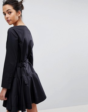 photo Flippy Dress with Utility Belt by Sportmax Code, color Black - Image 2
