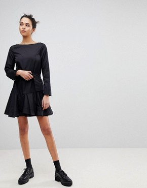photo Flippy Dress with Utility Belt by Sportmax Code, color Black - Image 4