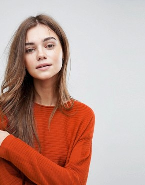 photo Jumper Dress in Ripple Stitch by ASOS, color Rust - Image 3