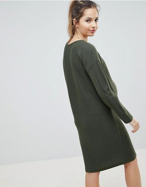photo Jumper Dress in Ripple Stitch by ASOS Maternity, color Khaki - Image 2
