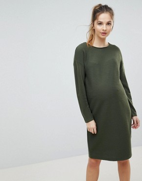 photo Jumper Dress in Ripple Stitch by ASOS Maternity, color Khaki - Image 1